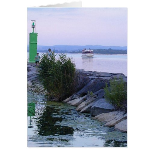 Paseo del lago tarjeta de felicitación