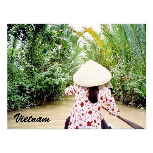 paseo del Mekong Tarjeta Postal