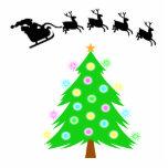 Paseo del navidad de Santa Adorno Fotoescultura