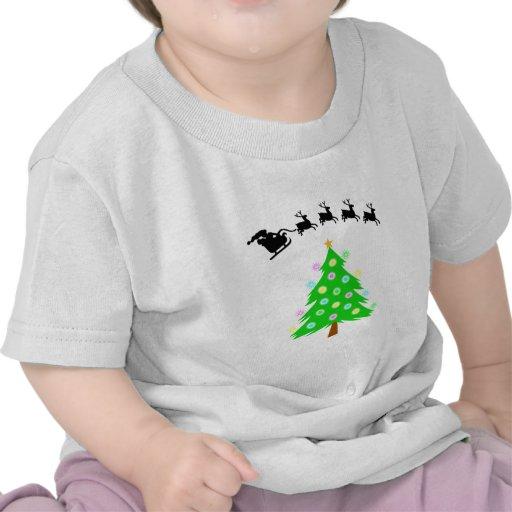 Paseo del navidad de Santa Camisetas