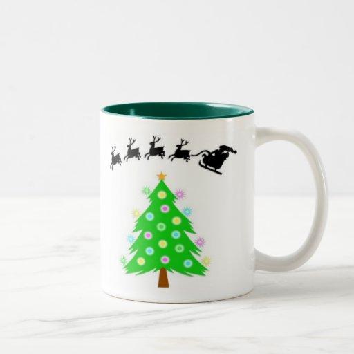 Paseo del navidad de Santa Tazas De Café