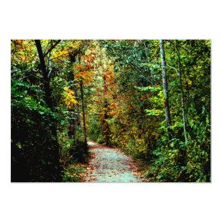 """Paseo del otoño invitación 5"""" x 7"""""""