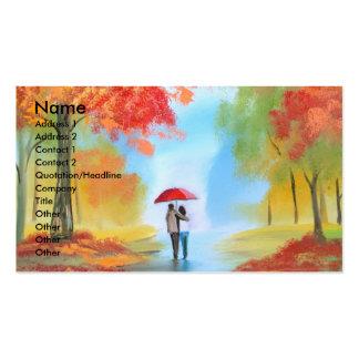 Paseo del otoño tarjetas de visita