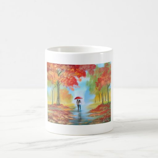 Paseo del otoño taza mágica