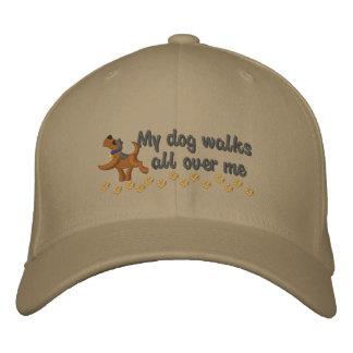 Paseo del perro gorras bordadas