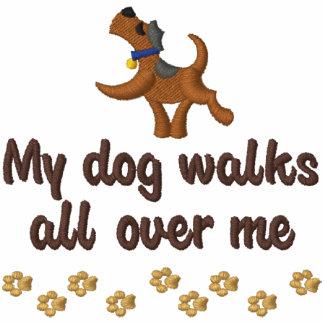 Paseo del perro sudadera bordada con capucha
