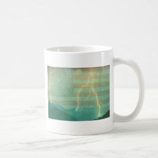 Paseo del relámpago la línea taza de café