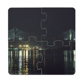 Paseo del río de la sabana posavasos de puzzle
