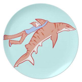 Paseo del tiburón plato de comida