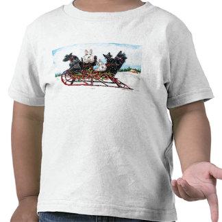 Paseo del trineo del escocés camisetas