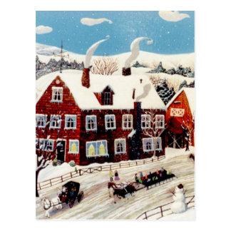 Paseo del trineo tarjetas postales