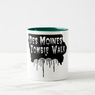 Paseo del zombi de Des Moines Taza Dos Tonos