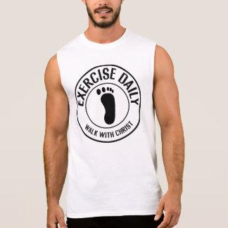 Paseo diario del ejercicio… con Cristo Camiseta Sin Mangas