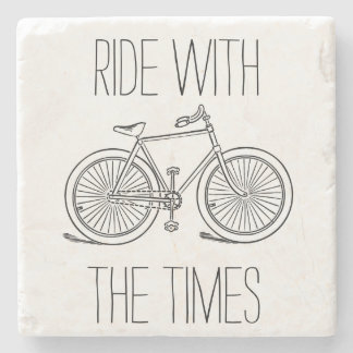 Paseo elegante con la bicicleta de The Times Posavasos De Piedra