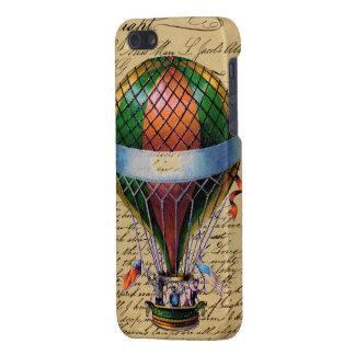 Paseo elegante del globo del aire caliente del vin iPhone 5 coberturas