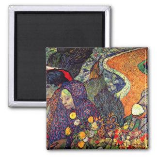 Paseo en Arles de Vincent van Gogh Imán Para Frigorifico