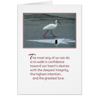 Paseo en confianza… tarjeta de felicitación
