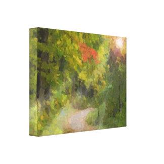 Paseo en el bosque impresiones de lienzo