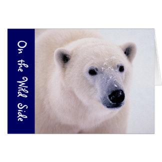 Paseo en el lado salvaje - oso polar tarjeta de felicitación