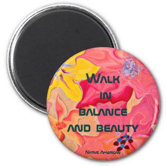 paseo en equilibrio y belleza imán de nevera