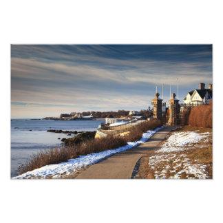 Paseo en invierno, Newport, Rhode Island del acant Fotografias