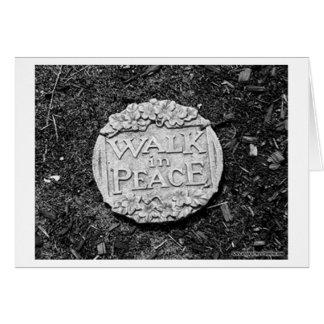 Paseo en paz tarjeta de felicitación