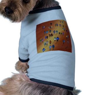 Paseo encendido camiseta de perrito