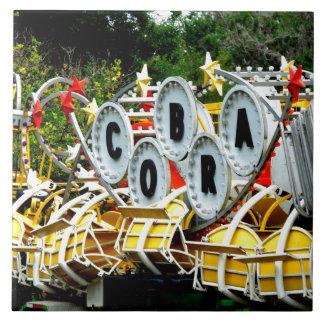 Paseo jubilado del carnaval azulejo cuadrado grande