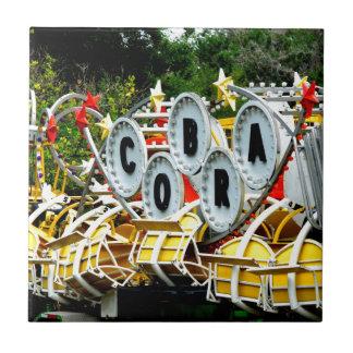 Paseo jubilado del carnaval azulejo cuadrado pequeño