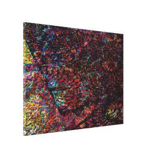 Paseo mágico de la alfombra impresión en lienzo