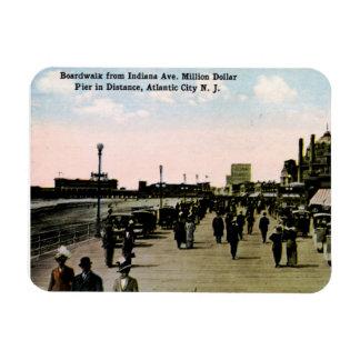 Paseo marítimo de la avenida de Indiana, vintage Imán Rectangular
