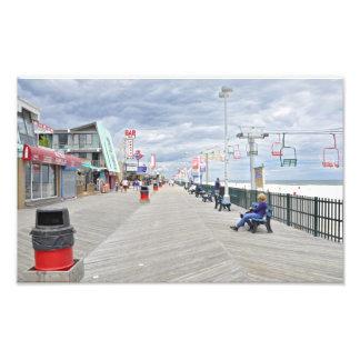 Paseo marítimo de las alturas de la playa fotografía