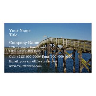 Paseo marítimo de madera tarjetas de visita