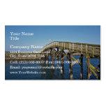 Paseo marítimo de madera tarjetas de negocios