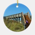 Paseo marítimo de San Blas del cabo, chica de la p Ornaments Para Arbol De Navidad