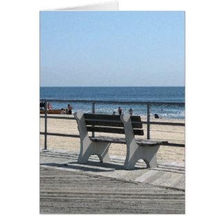 Paseo marítimo del parque NJ de Asbury - banco Tarjeta De Felicitación