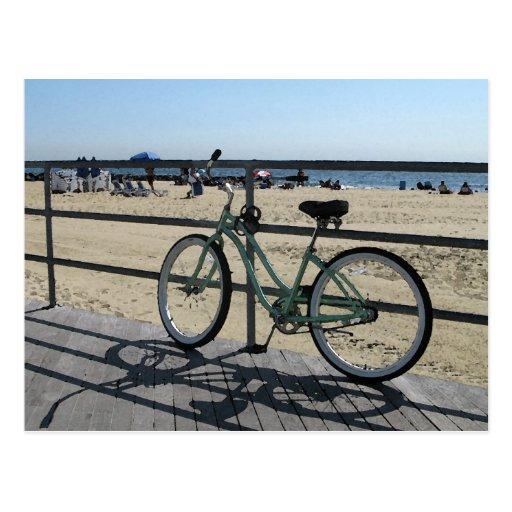 Paseo marítimo del parque NJ de Asbury - bicicleta Postal