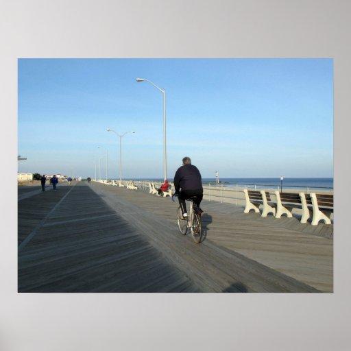 Paseo marítimo del parque NJ de Asbury - Bicyclist Impresiones