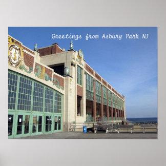 Paseo marítimo del parque NJ de Asbury - convenio  Impresiones