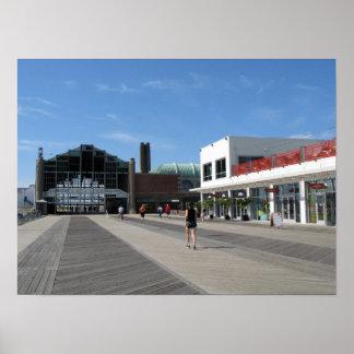 Paseo marítimo del parque NJ de Asbury - edificio  Poster