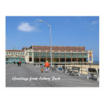 Paseo marítimo del parque NJ de Asbury - sirva el  Postal