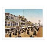 Paseo marítimo en el vintage 1900 de Atlantic City Postal