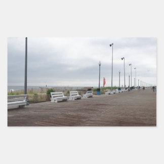 Paseo marítimo rectangular pegatinas