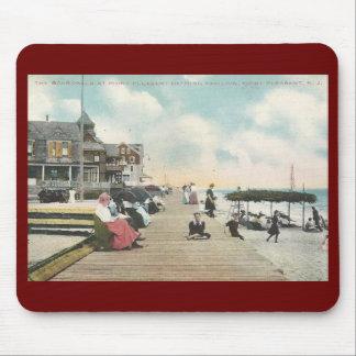 Paseo marítimo, punto agradable, vintage de New Alfombrilla De Raton