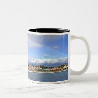 Paseo marítimo taza de café de dos colores