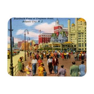 Paseo marítimo, vintage de Atlantic City Imanes