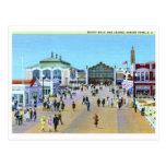 Paseo marítimo y casino, vintage del parque NJ de  Postal
