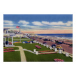 Paseo marítimo y hoteles de Cape May New Jersey Impresiones