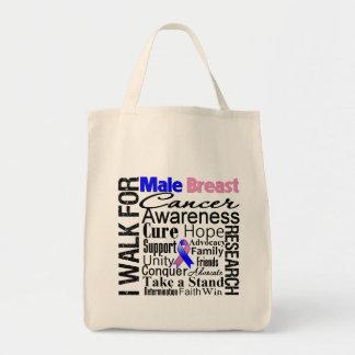 Paseo masculino de la conciencia del cáncer de pec bolsa