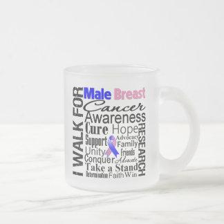 Paseo masculino de la conciencia del cáncer de pec taza